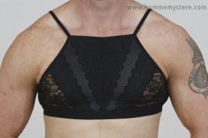 High neck design means no shoulder straps slipping off this figure hugging bra!